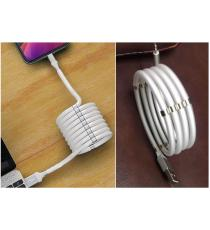 CAVO USB LIGHTNING DA 8 PIN DA 100CM PER IPHONE 5 - IPHONE 6 - IPHONE 7 BIANCO