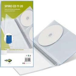 ALBUM SPIRO CD TI 20 PERSONALIZZABILE 14,5X30CM