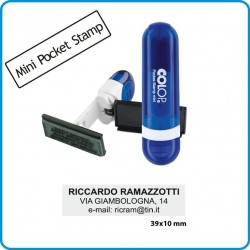 TIMBRO COLOP 10x39 AUTOINCHIOSTRANTE PERSONALIZZATO TASCABILE MINI POCKET 10X39mm PROFESSIONALE