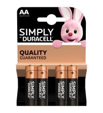BATTERIE DURACELL AA MORE POWER ALCALINE 4 STILO AA DURACELL BATTERIA MN1500 + 50% MORE POWER
