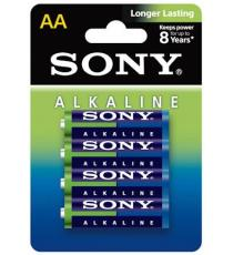 BATTERIE SONY AAA MN2400 LR03 ALCALINE 4PZ MINI STILO AAA AM4L-B4D BATTERIA LONGER LASTING - DURATA GARANTITA