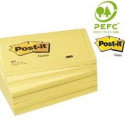 BLOCCO 100fg Post-it®Giallo Canary 76x127mm 655