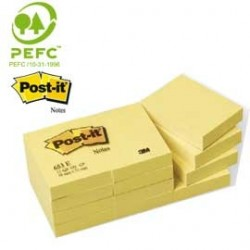 BLOCCO 100fg Post-it®Giallo Canary 38x51mm 653