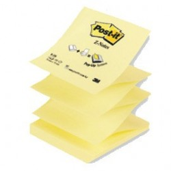 "BLOCCO 100fg Post-it Z-Notes R330 Giallo Canaryâ""¢ 76x76mm"