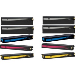 5 CARTUCCE HP 980XL COMPATIBILI PER HP OfficeJet Enterprise Color X555dn X555XH X585F X585Z N° 2 980XL BK + N° 1 980XL C/M/Y