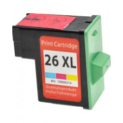 CARTUCCIA LEXMARK 26XL COLORE RIGENERATA PER LEXMARK Jet Printer Z13 Z23 Z23E (10N0227 27) 10N0026 CAPACITA' 15ML