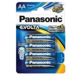 BLISTER 4 stilo AA EVOLTA PANASONIC