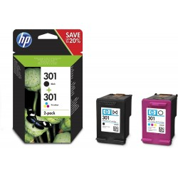 ORIGINALE HP 301BK BLACK CARTUCCIA ORIGINALE STANDARD 301 BK CH561EE CAPACITA' 4ml