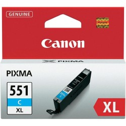 ORIGINALE CANON CLI-551BK XL NERA 6443B001 PER CANON IP 7250 MG5450 MG6350 550XL CAPACITA' 11ML