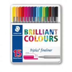 TRIPLUS FINELINER BRILLIANT COLOURS PUNTA 0.3MM ASTUCCIO DA 15 COLORI STAEDTLER