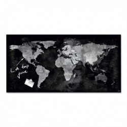 LAVAGNA MAGNETICA in VETRO 46x91cm WORLD MAP artverum® Sigel