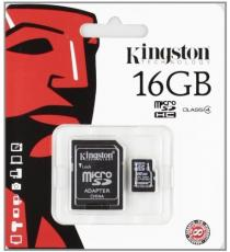 MICRO SD 32GB KINGSTON CON ADATTATORE CLASSE 4 MICROSD 32GB SDC4/32GB