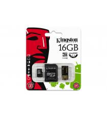 MICRO SD 8GB KINGSTON MULTI KIT MOBILITY KIT CON ADATTATORE SD E USB CLASSE 4 MBLY4G2/8GB Scheda microSDHC – Classe 4