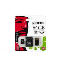 MICRO SD 32GB KINGSTON MULTI KIT MOBILITY KIT CON ADATTATORE SD E USB CLASSE 10 MBLY10G2/32GB Scheda microSDHC – Classe 10