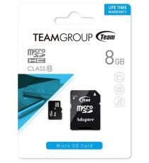 MICRO SD 4GB CLASSE 10 TEAMGROUP MEMORY CARD TUSDH4GCL1002 - LIFE TIME WARRANTY