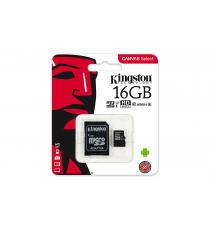 MICRO SDHC 32GB CLASSE 10 SDCS/32GB UHS-I KINGSTON CANVAS SELCET - MICROSD 32GB 80MB/s CON ADATTATORE