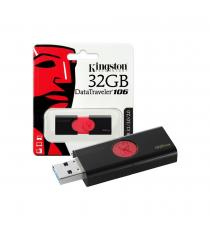 PENDRIVE 16GB DT106 3.1 DT106/16GB KINGSTON DATATRAVEL USB 3.1 Gen 1 Dimensioni: 60mm x 21,2mm x 10mm