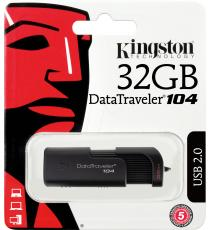 PENDRIVE 16GB DT104 2.0 DT104/16GB KINGSTON DATATRAVEL USB 2.0 Dimensioni: 69,62mm x 22,14mm x 12,76mm
