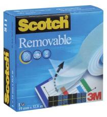 Nastro adesivo Scotch Magic 811 removibile invisibile 19 mm x 33 mt trasparente Scotch
