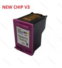 CARTUCCIA HP 302XL NERA NEW CHIP V3 COMPATIBILE PER HP 3830 3832 4650 1110 2130 3630 4520 F6U68AE CAPACITA' 20ML