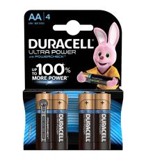 BATTERIE DURACELL AA PLUS POWER ALCALINE 4 STILO AA DURACELL BATTERIA MN1500 + 50% MORE POWER