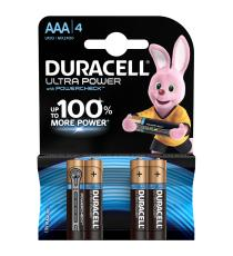 BATTERIE DURACELL AA ULTRA POWER ALCALINE 4 STILO AA CON POWERCHECK LR6 MX1500 + 100% MORE POWER