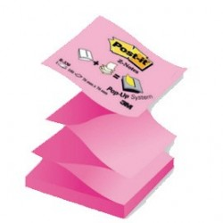 BLOCCO Post-itSuper Sticky Z-Notes 76x76mm 100fg R330-NAP ROSA FLUO