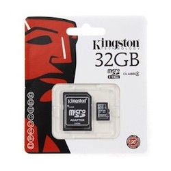 MICRO SD 8GB KINGSTON CON ADATTATORE - MICROSD 8 GB