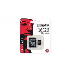 MICRO SD 16GB KINGSTON CON ADATTATORE - MICROSD 16 GB