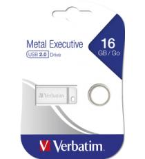 PENDRIVE 16 GB USB MINI IN METALLO EXECUTIVE 98748 PENDRIVE VERBATIM Drive USB 2.0 Metal Executive 16GB