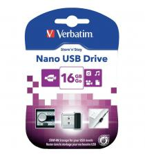 PENDRIVE 16GB VERBATIM NANO 97464 USB 2.0 STORE N STAY 16 GB -97464-